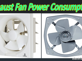 Exhaust fan power consumption