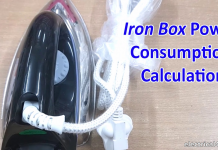 Iron Box Power consumption Calculation