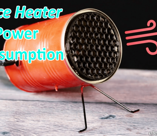 Space heater power consumption-min