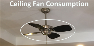 ceiling fan power consumption