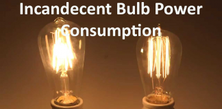 incandescent bulb power consumption