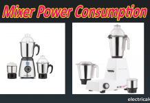 mixer Power consumption