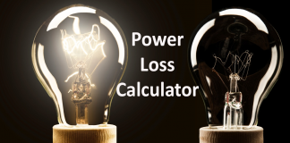 Cable power loss calculator