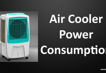 Air cooler Power Consumption