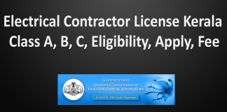 Electrical Contractor License Kerala Class A, B, C, Eligibility, Apply, Fee-min